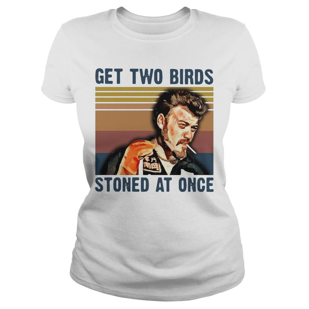 Vintage Trailer Park Boys Get Two Birds Stoned At Once Longsleeve