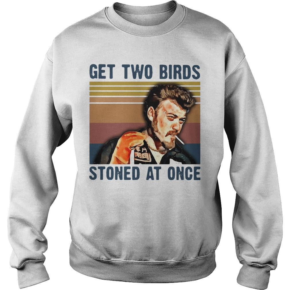 Vintage Trailer Park Boys Get Two Birds Stoned At Once Sweater