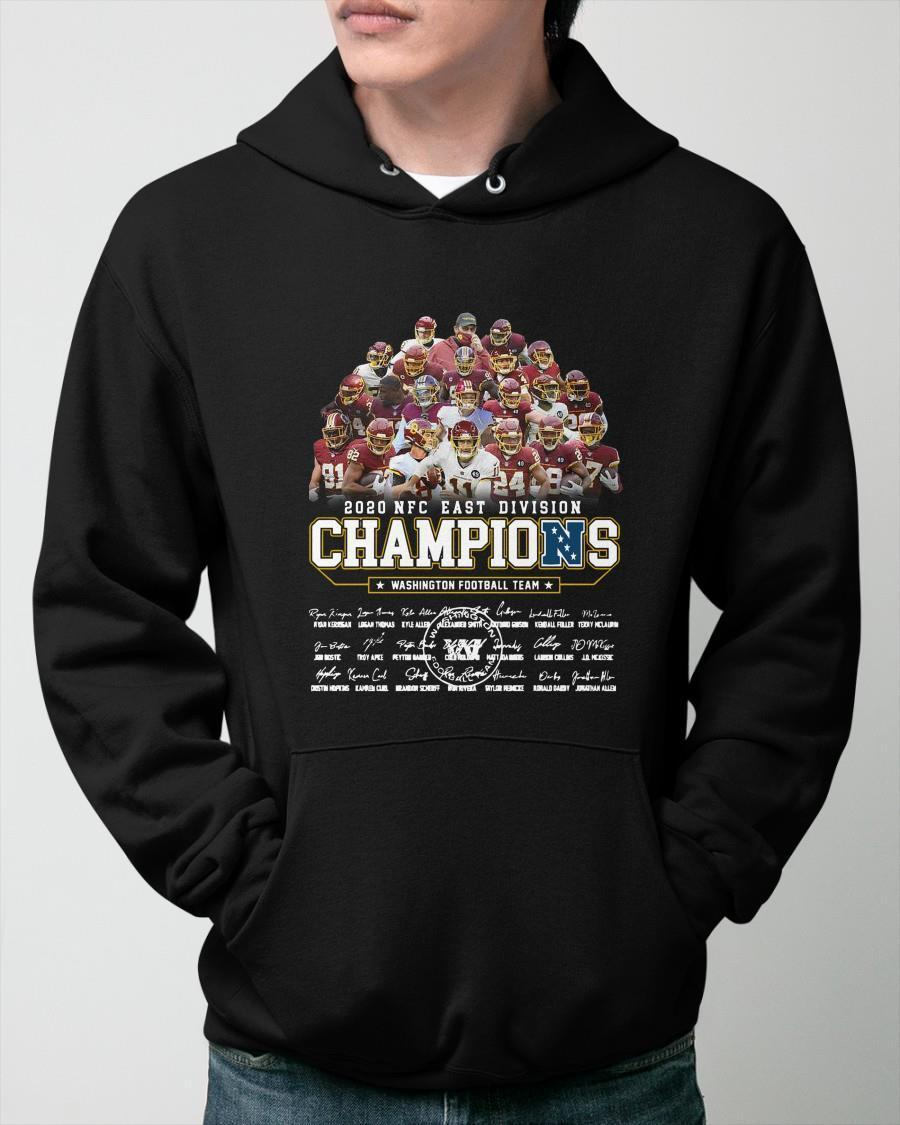 Washington Football Team 2020 Nfc East Division Champions Hoodie