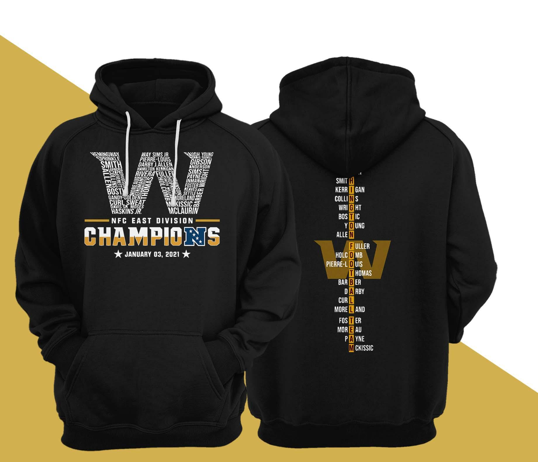 Washington Nfc East Division Champions January 03 2021 Hoodie