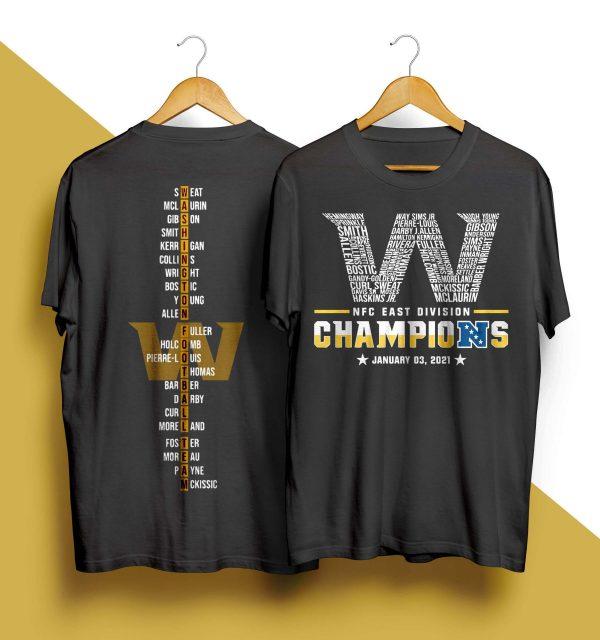 Washington Nfc East Division Champions January 03 2021 Shirt
