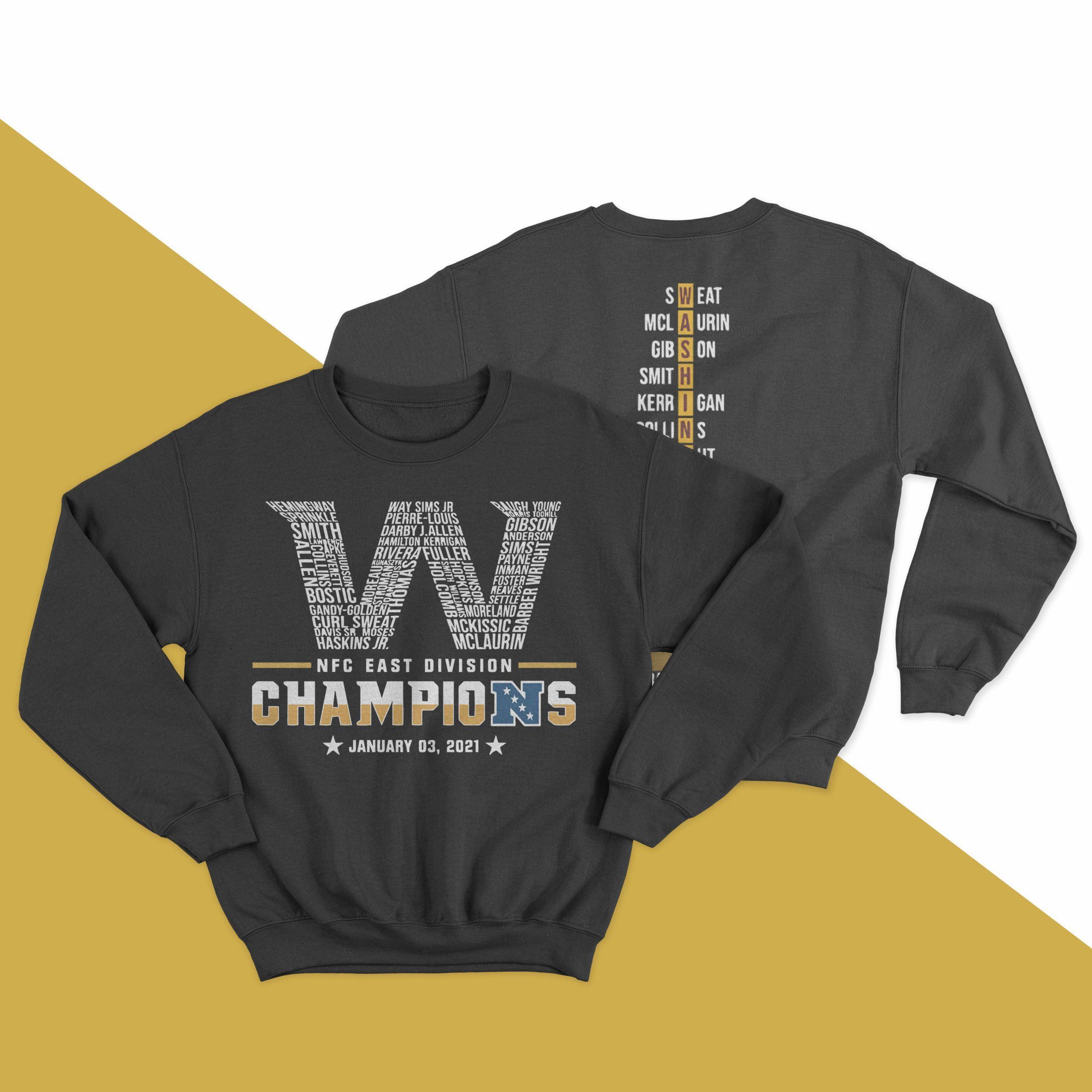 Washington Nfc East Division Champions January 03 2021 Sweater