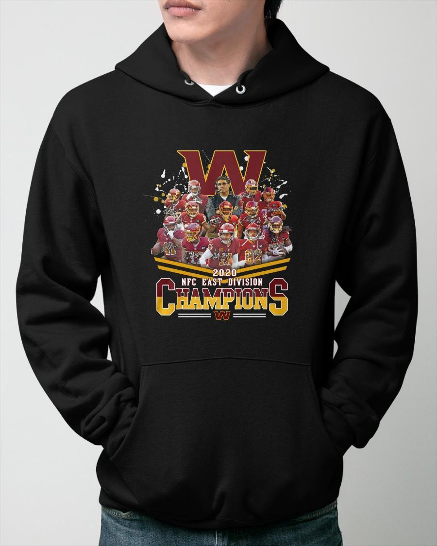 Washington Redskins Football 2020 Nfc East Division Champions Signatures Hoodie