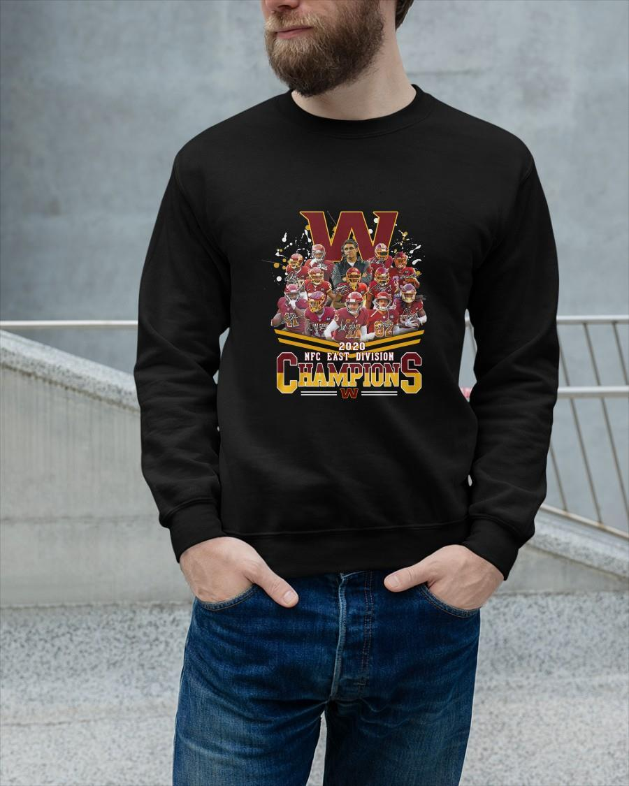 Washington Redskins Football 2020 Nfc East Division Champions Signatures Longsleeve
