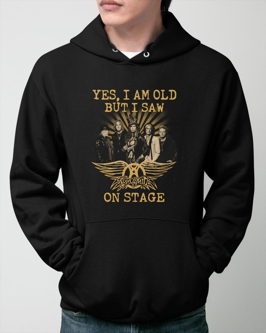 Yes I Am Old But I Saw Aerosmith On Stage Hoodie