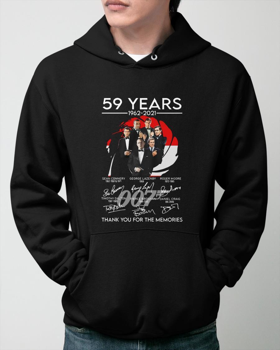 007 59 Years Thank You For The Memories Hoodie