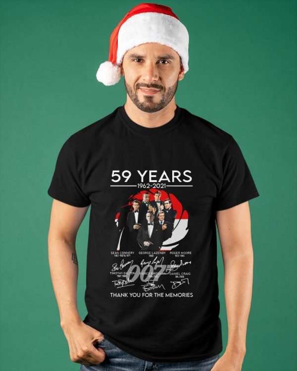 007 59 Years Thank You For The Memories Shirt