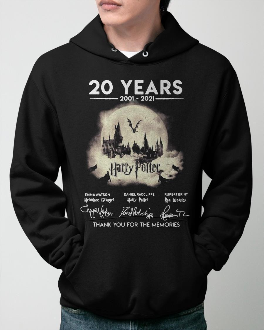 20 Years 2001 2021 Harry Potter Thank You For The Memories Hoodie