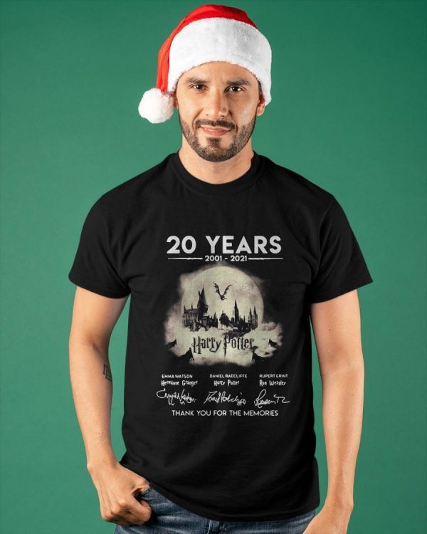 20 Years 2001 2021 Harry Potter Thank You For The Memories Shirt