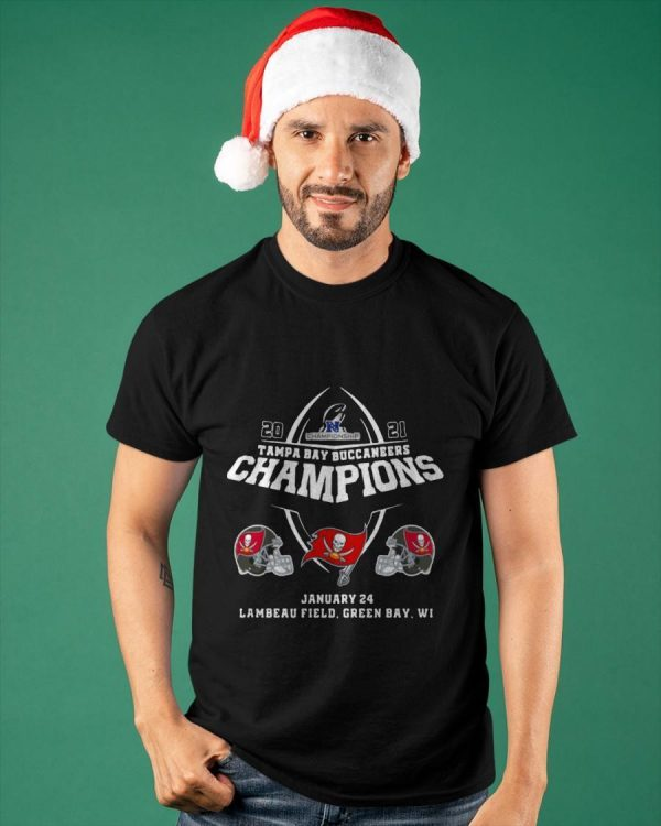 2021 Championship Tampa Bay Buccaneers Champions January 24 Shirt