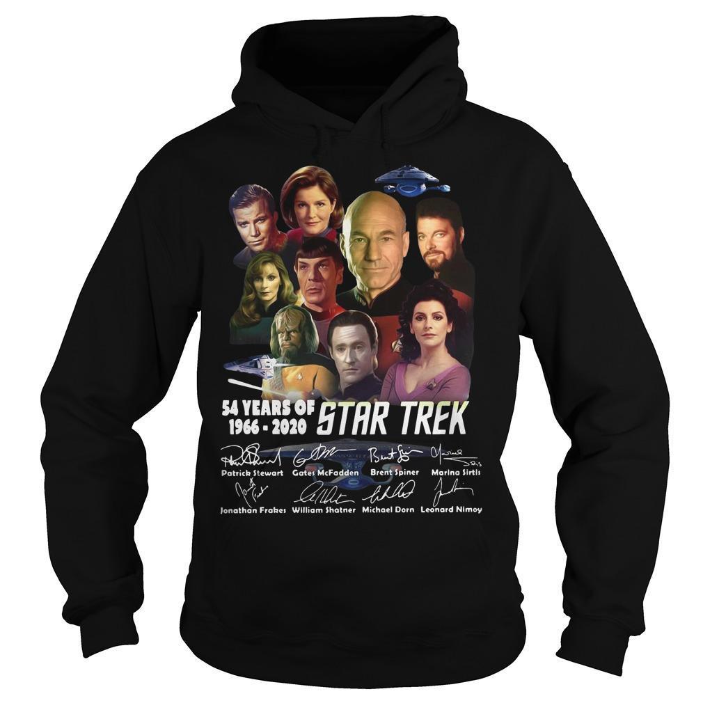 54 Years Of Star Trek 1966 2020 Characters Signatures Hoodie
