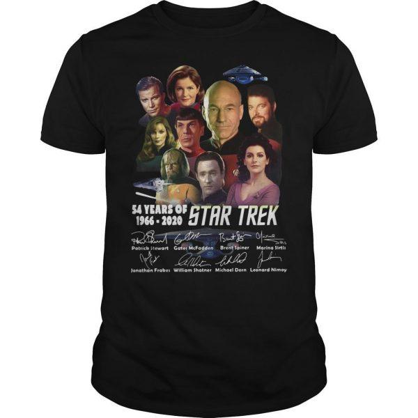54 Years Of Star Trek 1966 2020 Characters Signatures Shirt
