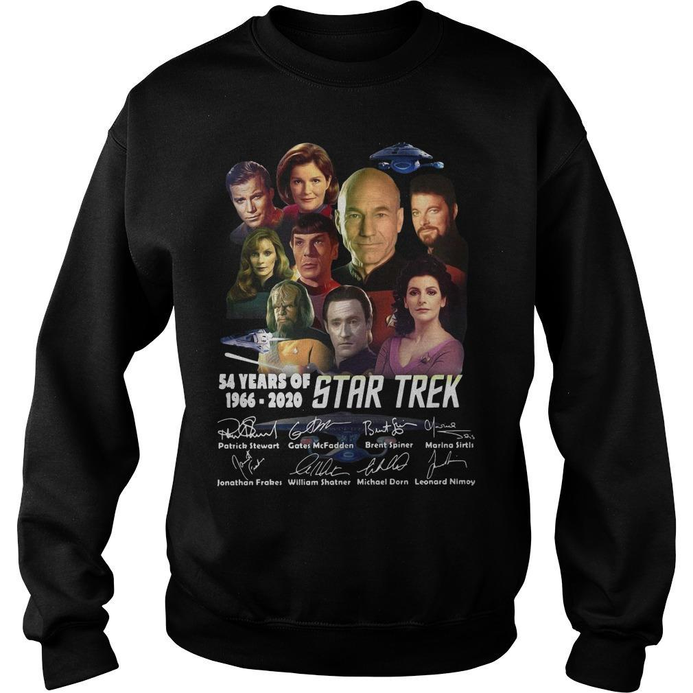 54 Years Of Star Trek 1966 2020 Characters Signatures Sweater