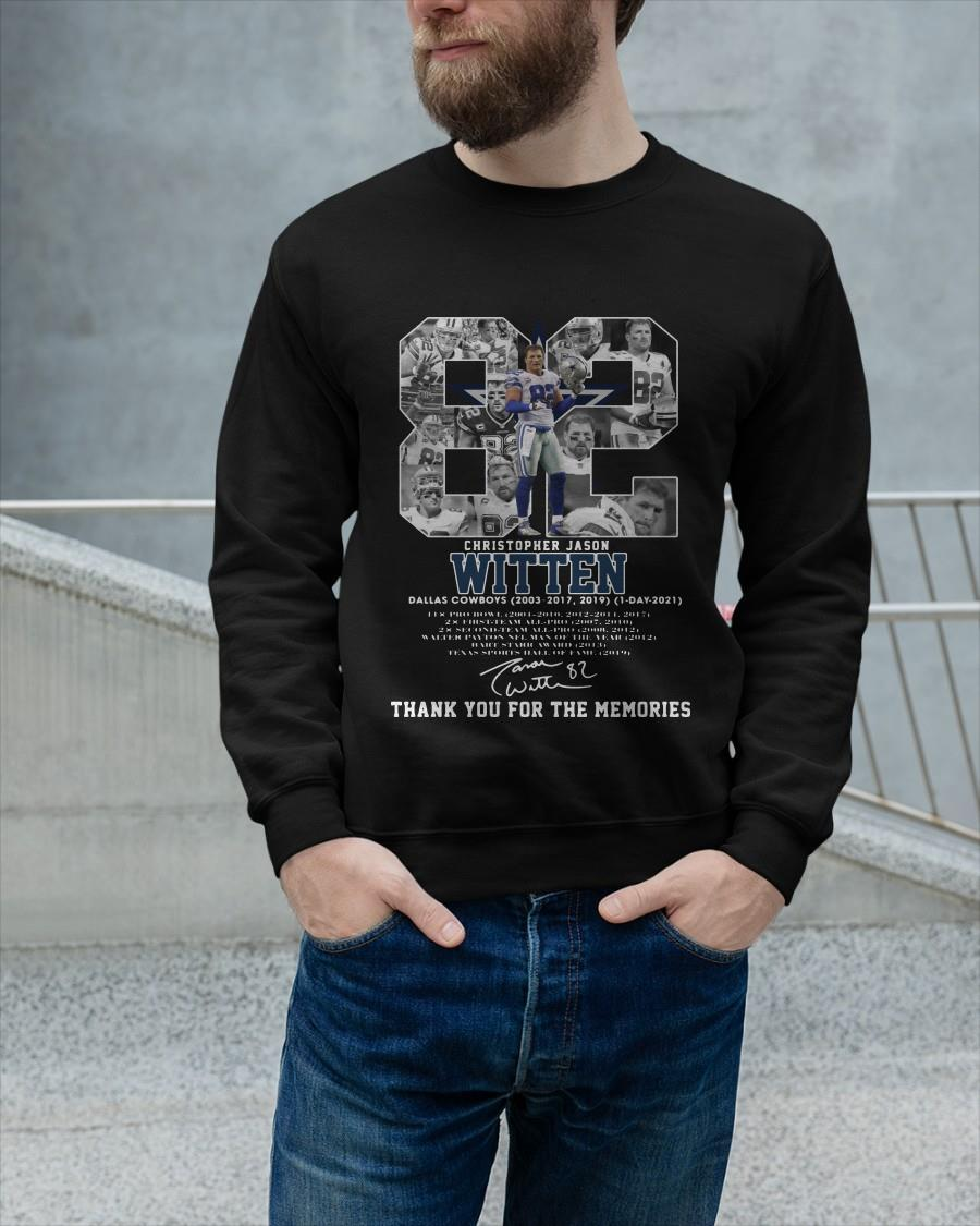 82 Christopher Jason Witten Thank You For The Memories Sweater
