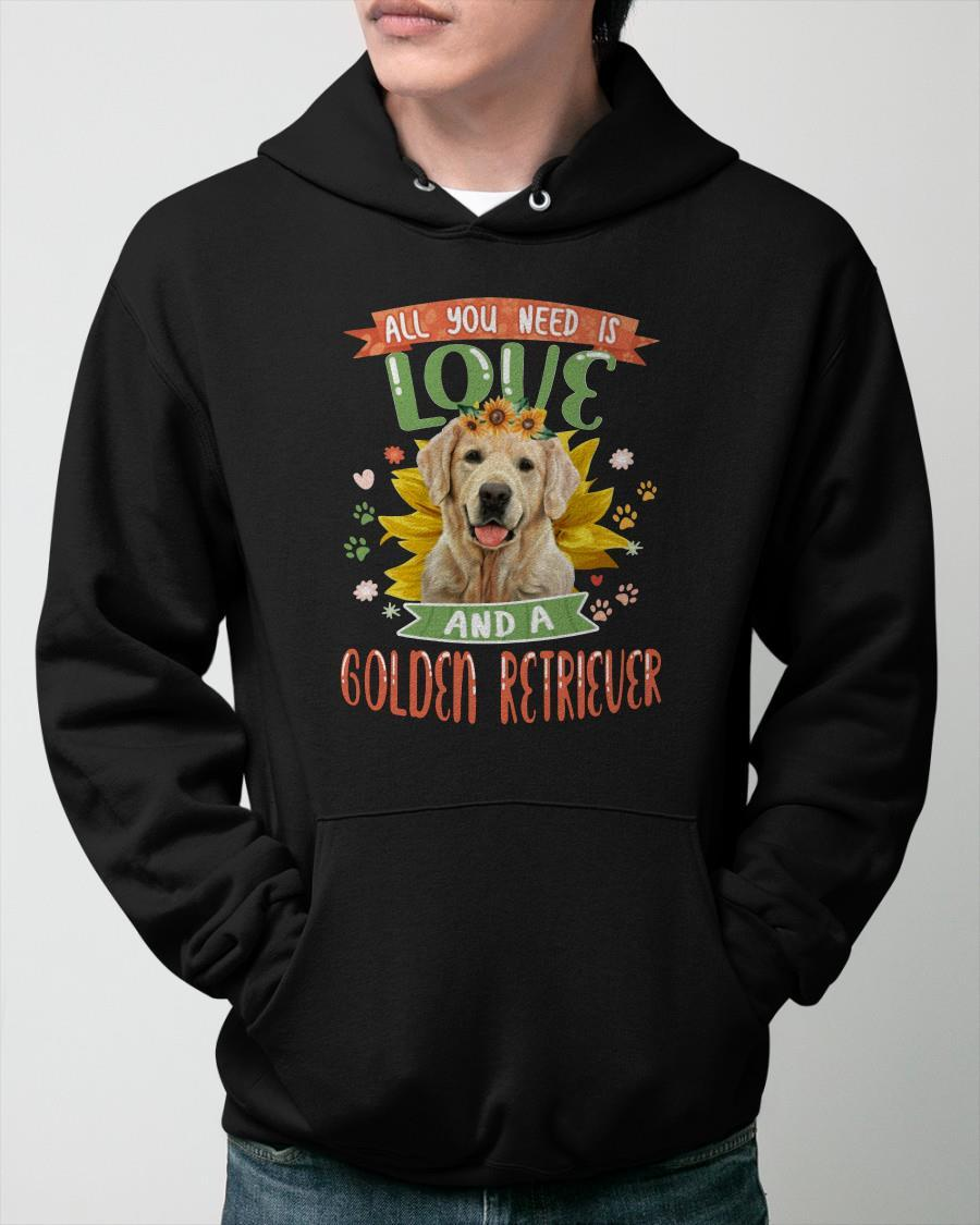 All You Need Is Love And A Golden Retriever Hoodie