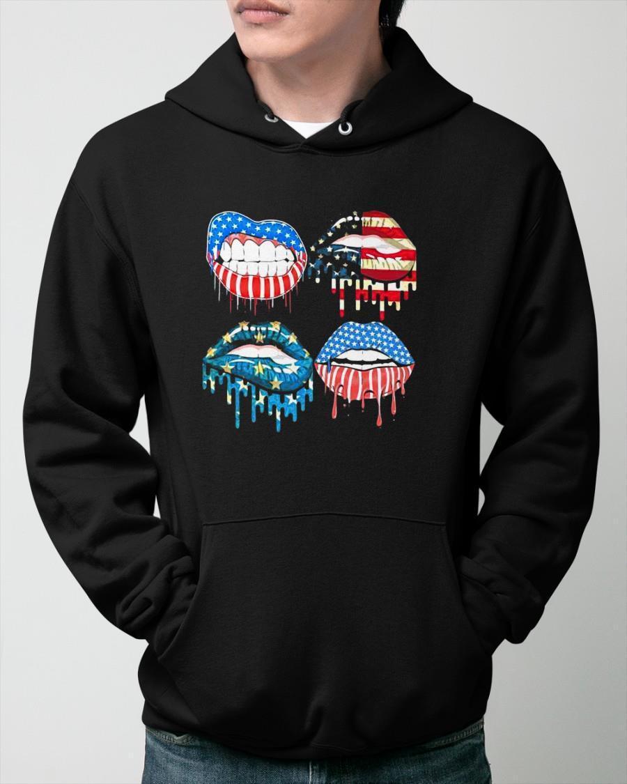 American Flag 2021 Lips Hoodie