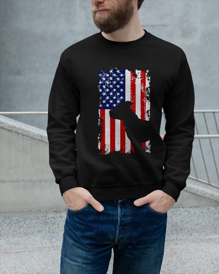 American Flag Pitbull Terrier Usa Flag Longsleeve