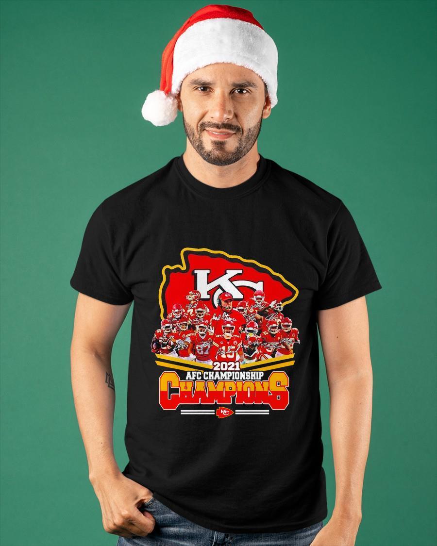 Chiefs 2021 Afc Championship Champions Shirt