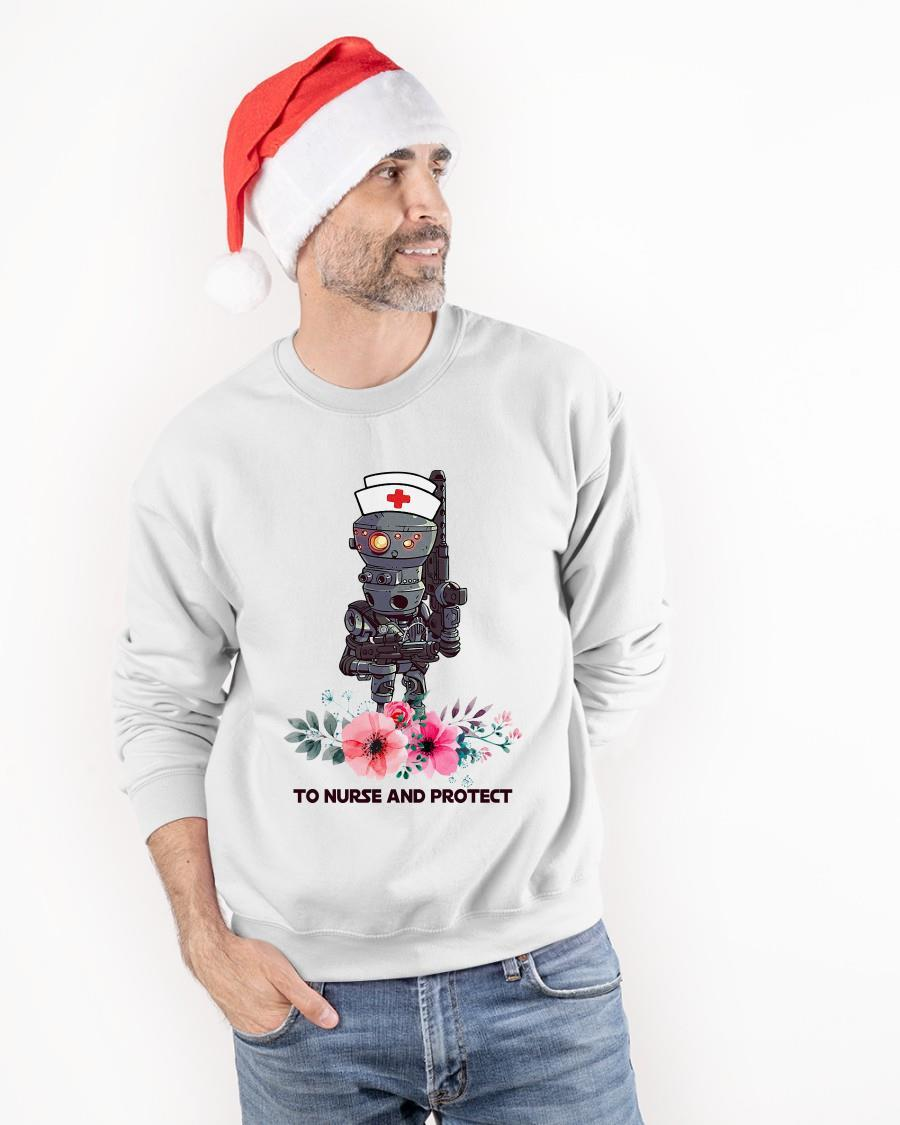 Flowers IG-11 To Nurse And Protect Star Wars Mandalorian Sweater