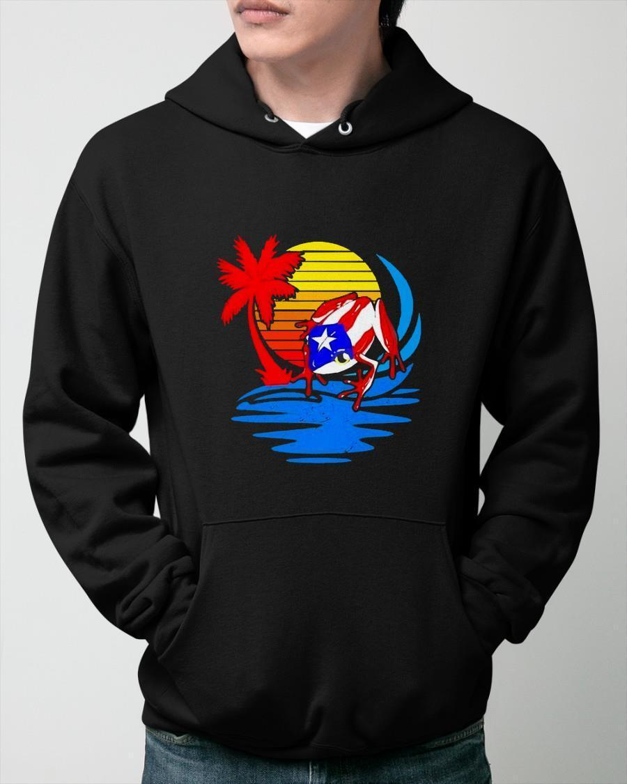 Frog Captain America Sunset Hoodie