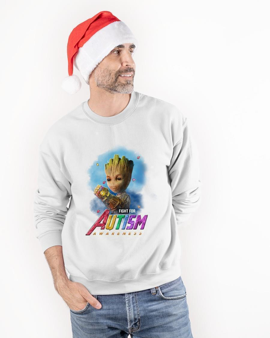 Infinity Gauntlet Baby Groot Fight For Autism Awareness Sweater