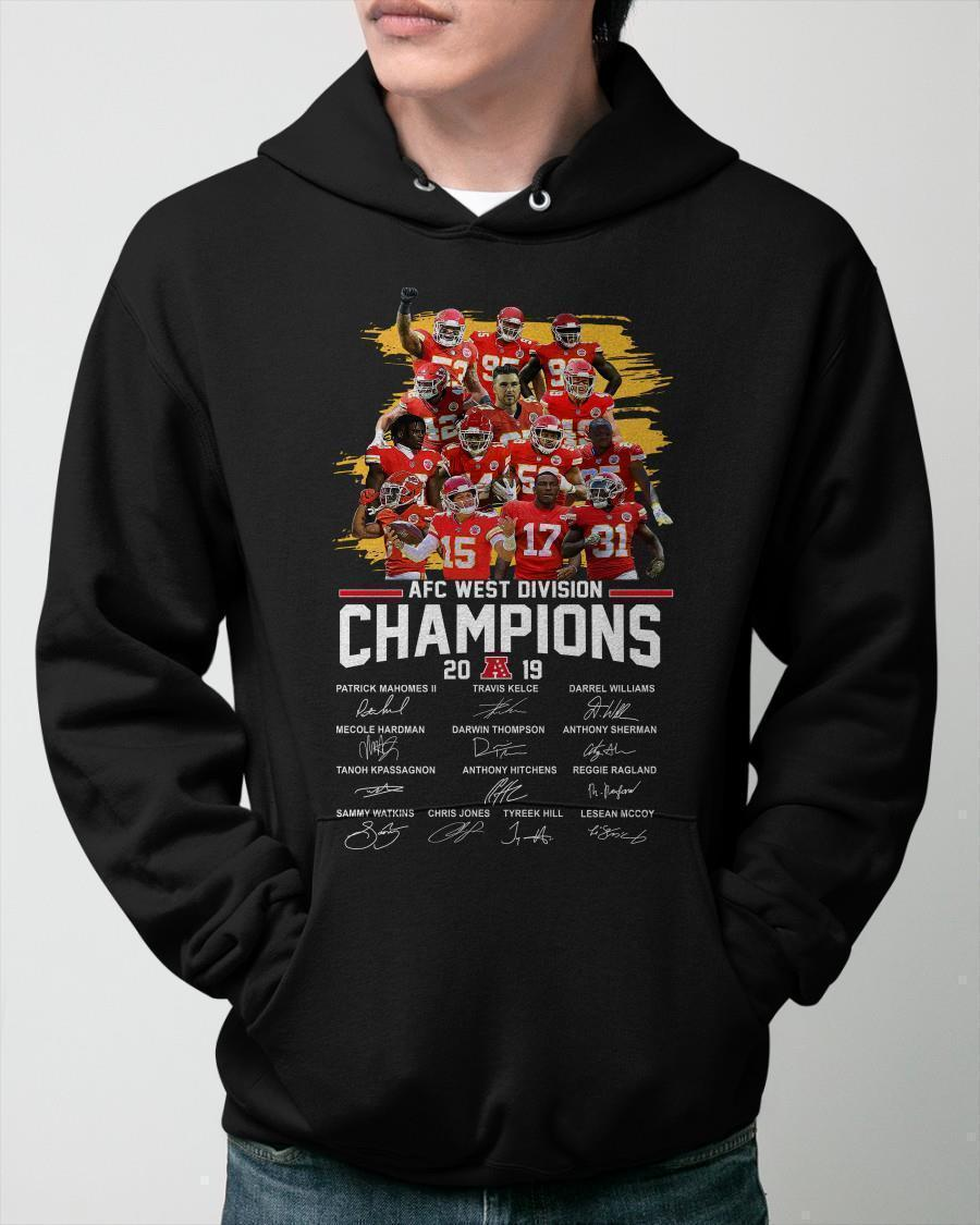 Kansas City Chiefs Afc West Division Champions 2019 Signatures Hoodie