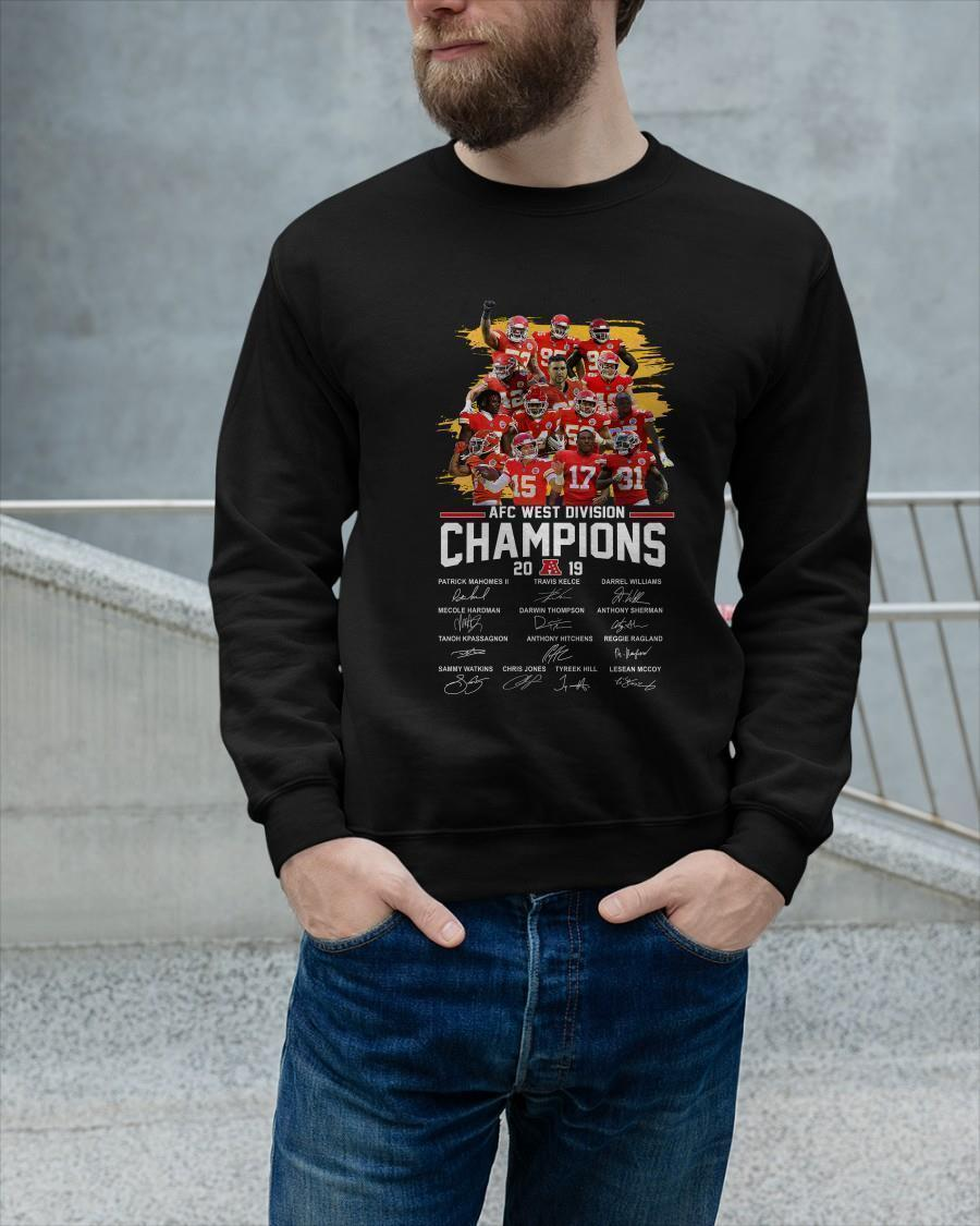 Kansas City Chiefs Afc West Division Champions 2019 Signatures Longsleeve