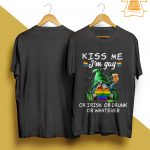 Lgbt Gnome Kiss Me I'm Gay Or Irish Or Drunk Or Whatever Shirt