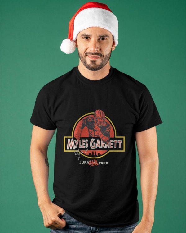 Myles Garrett Jurassic Park Sack Shirt