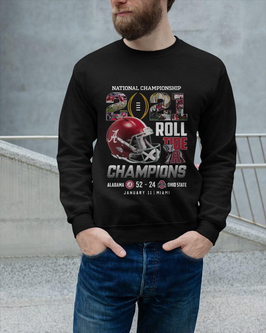 National Championship 2021 Roll Tide A Champions Sweater