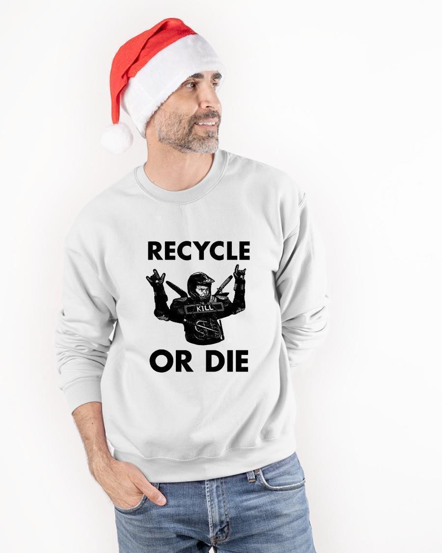 Rainn Wilson Recycle Or Die Sweater