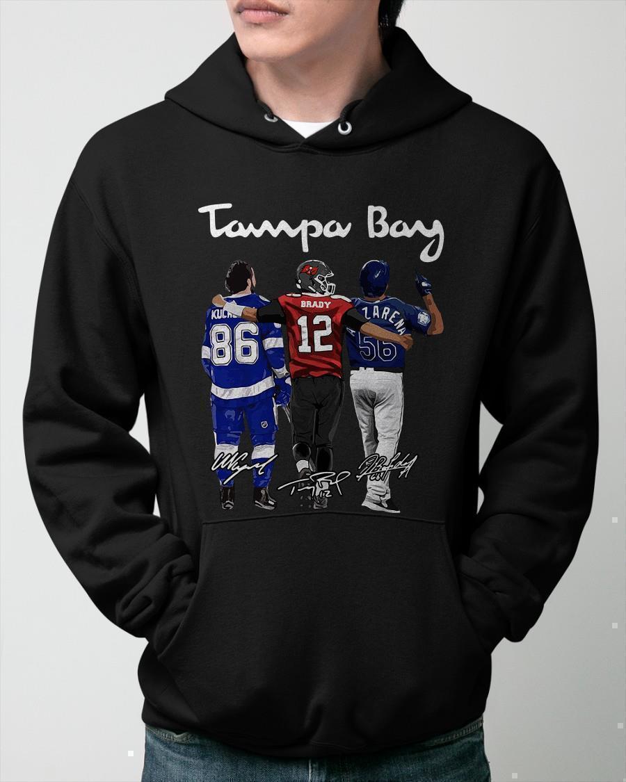 Tampa Bay Kucherov Brady Arozarena Signatures Hoodie