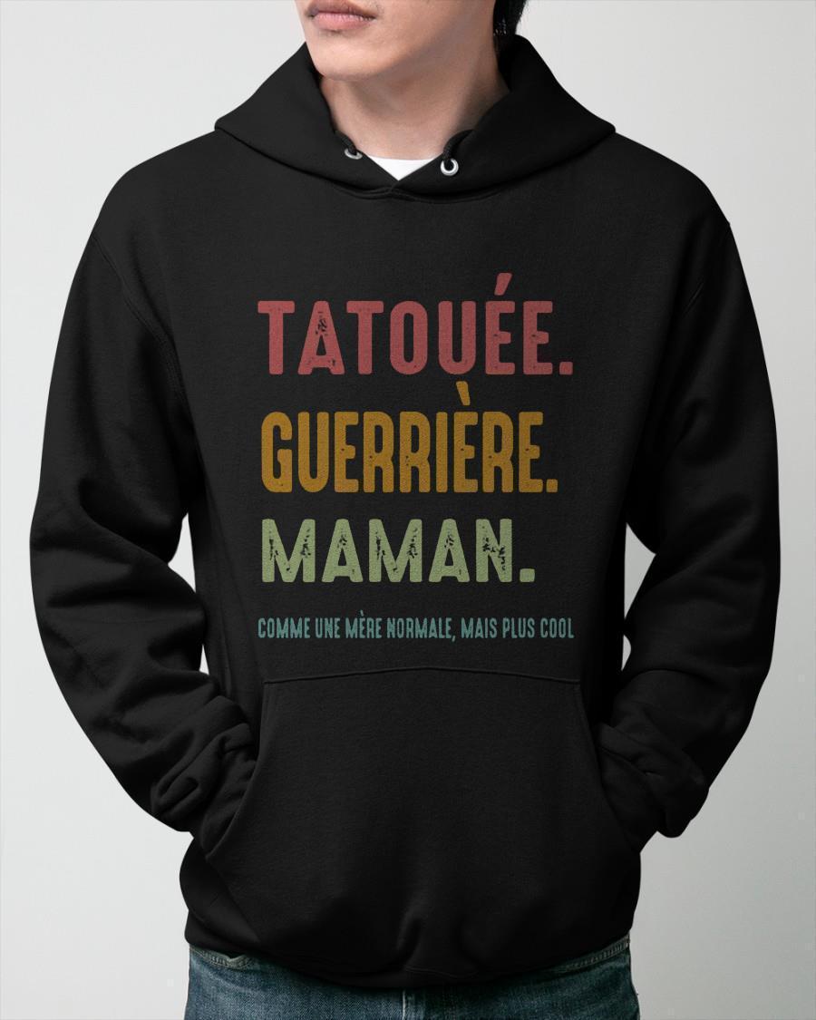 Tatouée Guerrière Maman Hoodie