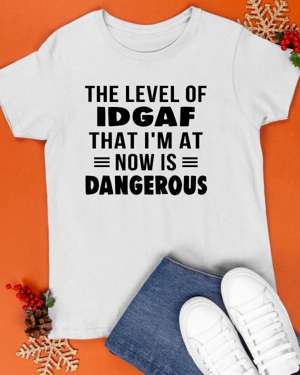 The Level Of Idgaf That I'm At Now Is Dangerous Shirt