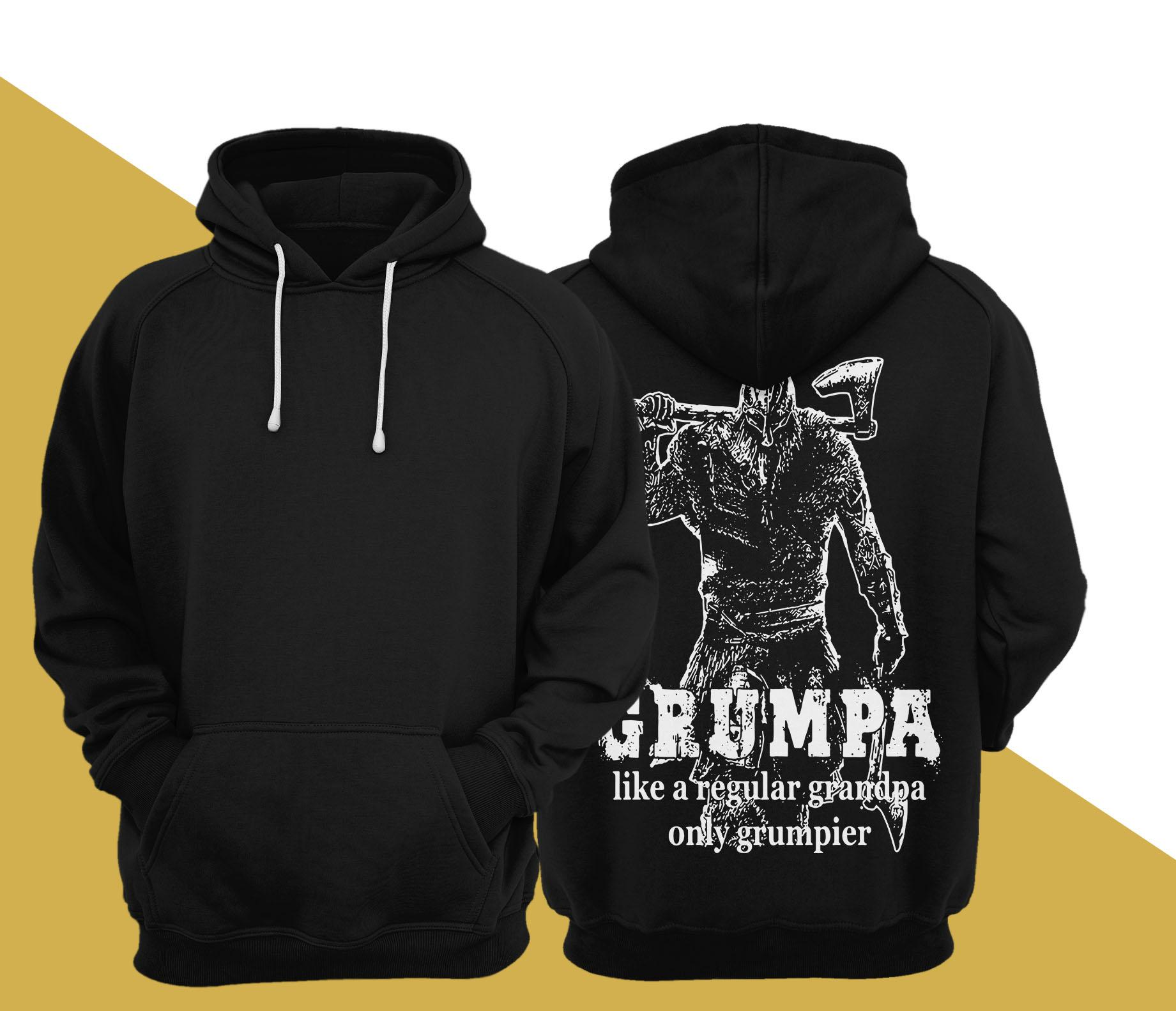 Viking Grumpa Like A Regular Grandpa Only Grumpier Hoodie