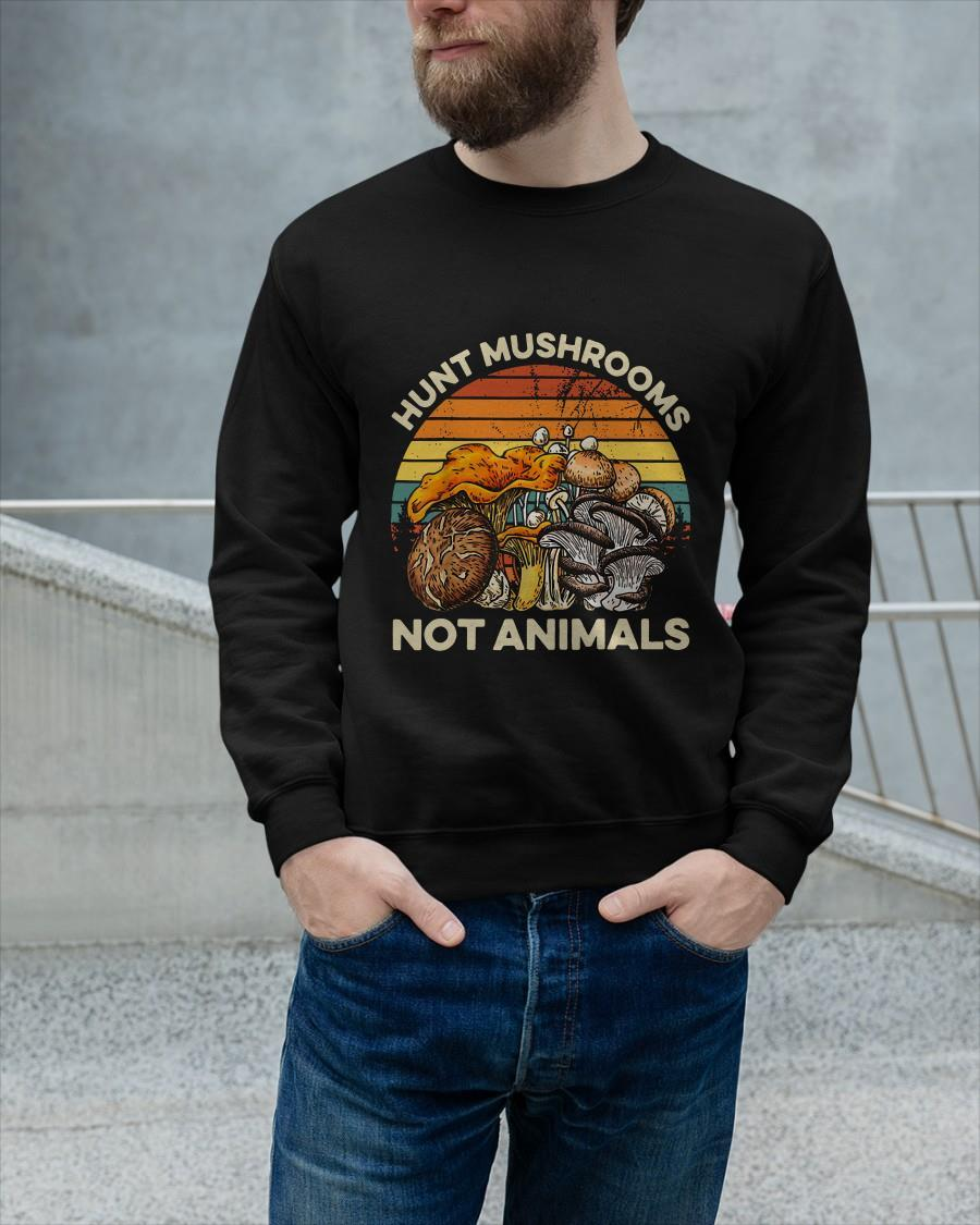 Vintage Hunt Mushrooms Not Animals Longsleeve