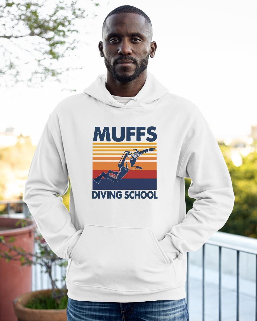 Vintage Scuba Diving Muffs Diving School Hoodie