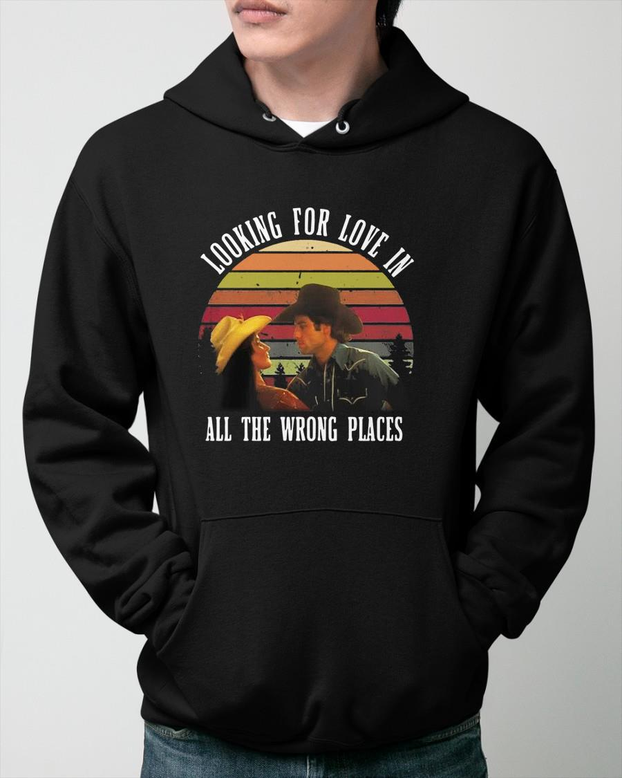 Vintage Urban Cowboy Lookin' For Love In All The Wrong Places Hoodie