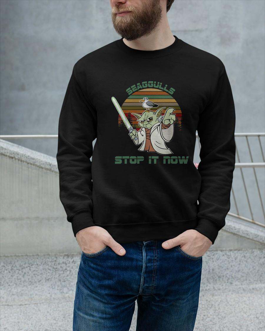Vintage Yoda Seagulls Stop It Now Longsleeve