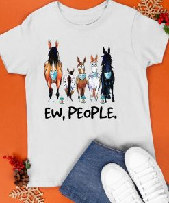 With Cows Face Mask 2021 Ew People Shirt