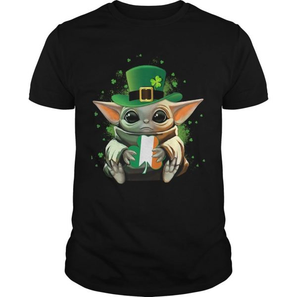 Baby Yoda Hugging St Patrick's Day Shirt