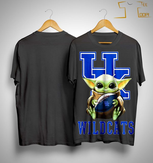 Baby Yoda Hugging Wildcats Shirt