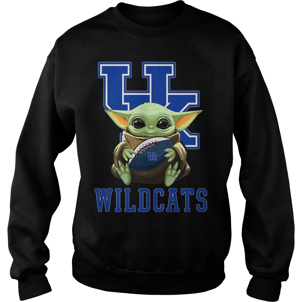 Baby Yoda Hugging Wildcats Sweater