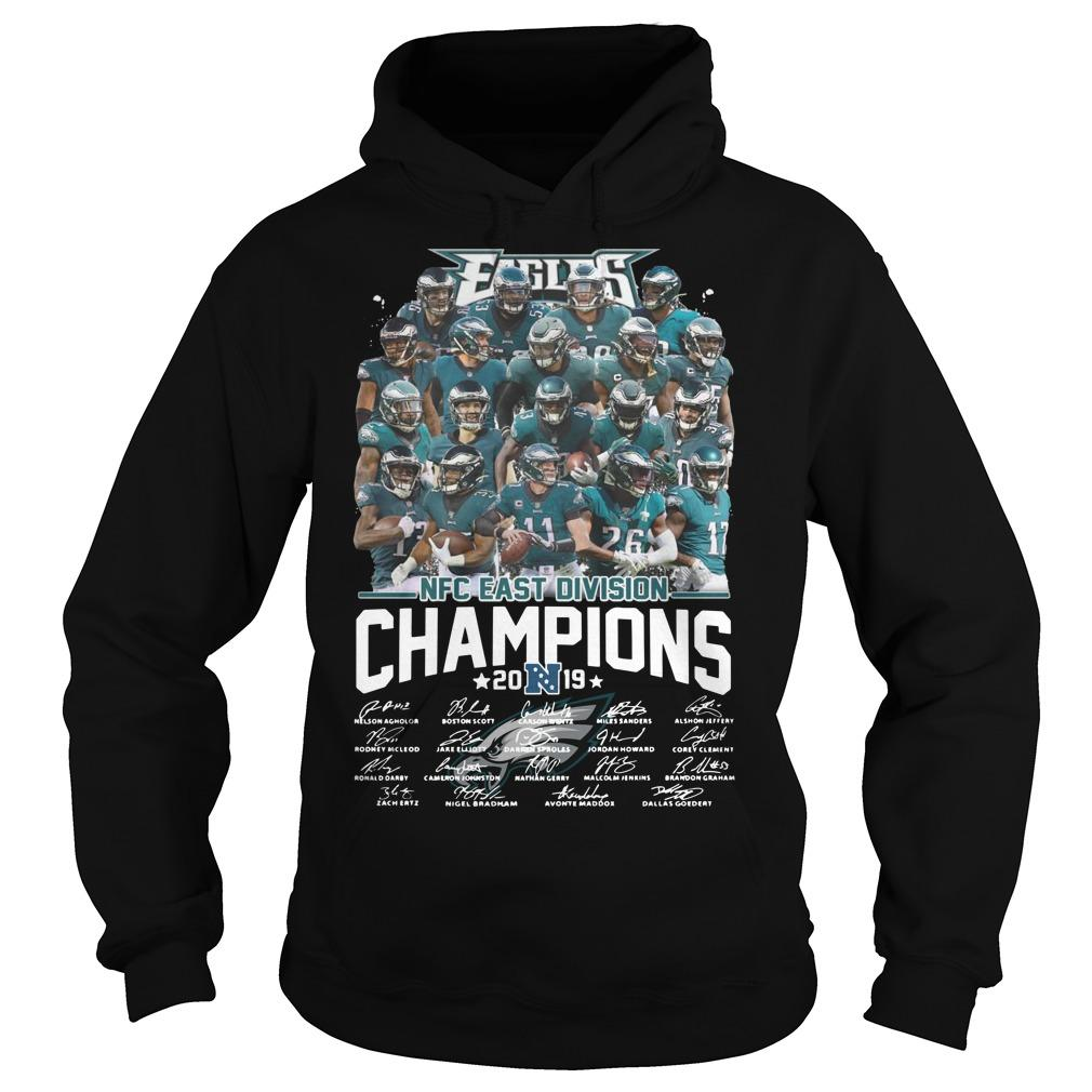 Eagles Nfc East Division Champions 2019 Signatures Hoodie