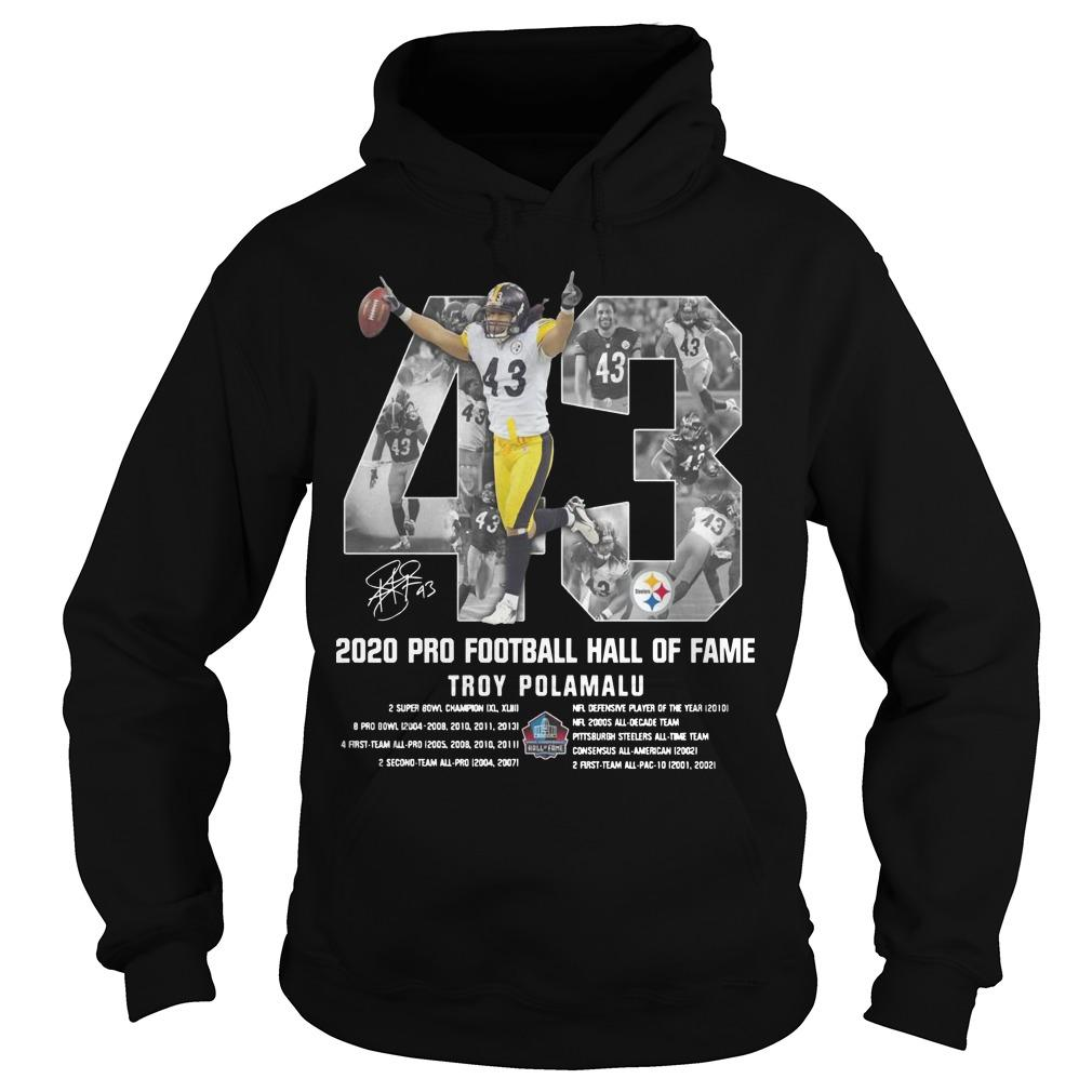 2020 Pro Football Hall Of Fame Troy Polamalu Hoodie