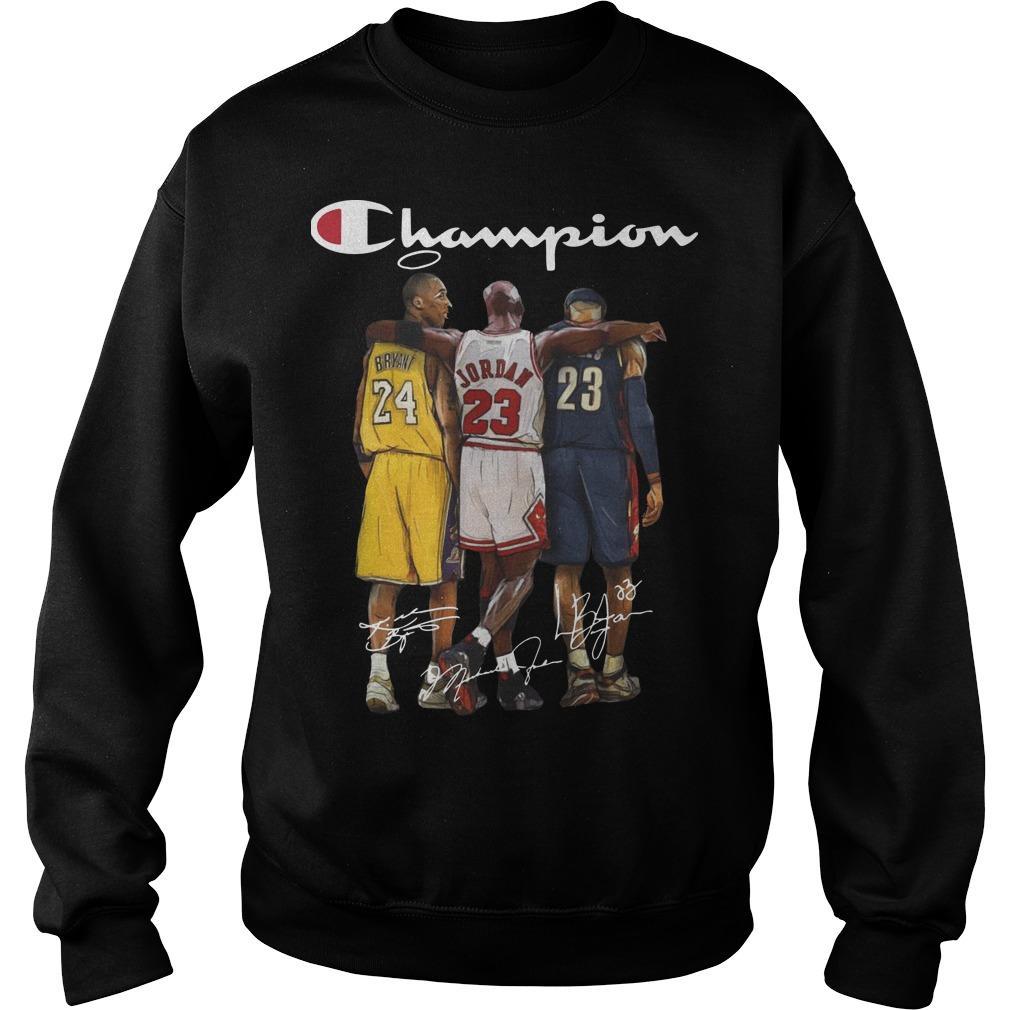 Angel Kobe Bryant Jordan Lebron James Signature Champion Sweater