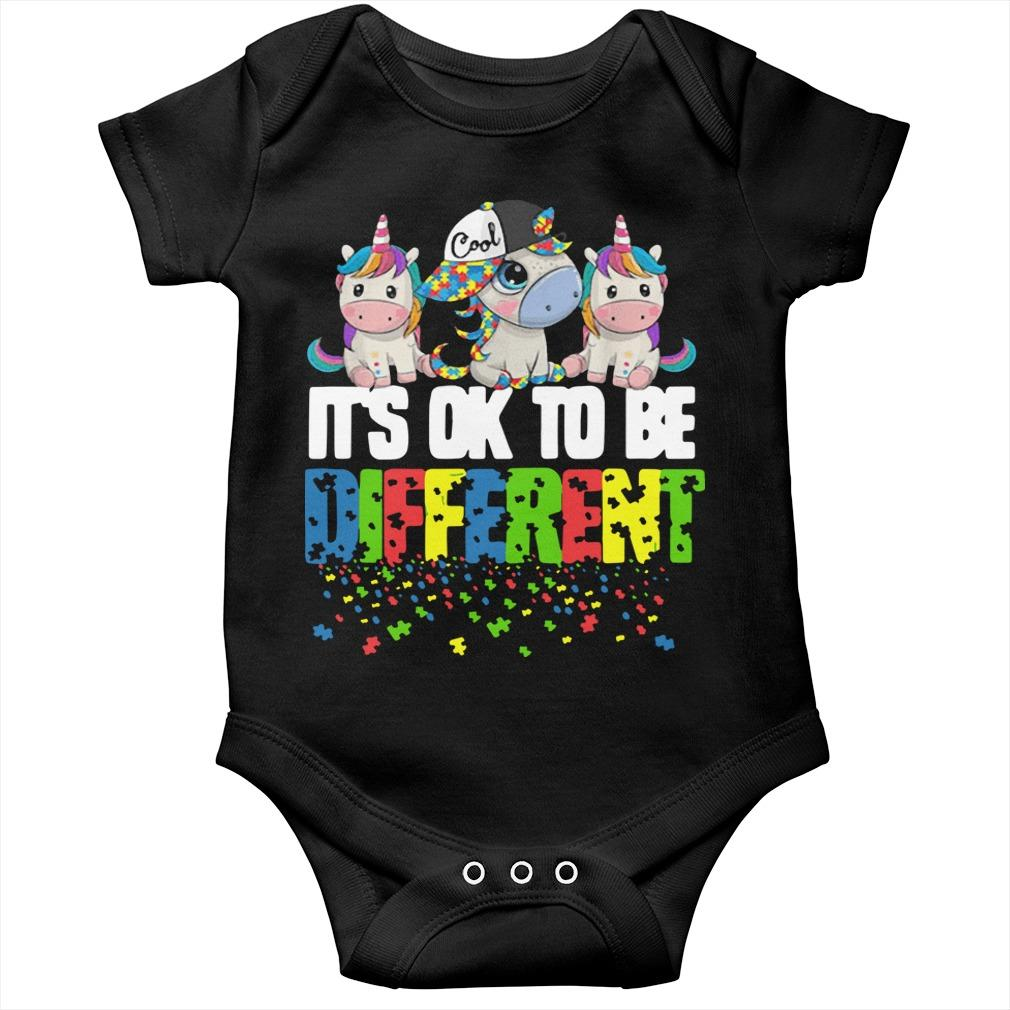 Autism Unicorns It's Ok To Be Different Longsleeve