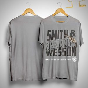Wisconsin Student Smith Firearms Wesson Made In The Usa Since 1852 Shirt