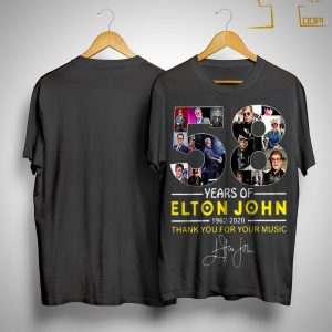 58 Years Of Elton John 1962 2020 Thank You For Your Music Signature Shirt