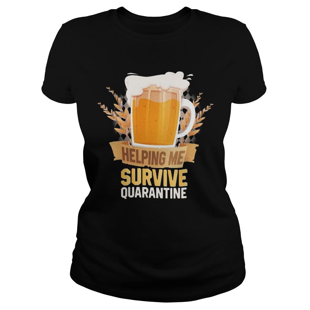 Beer Helping Me Survive Quarantine Longsleeve
